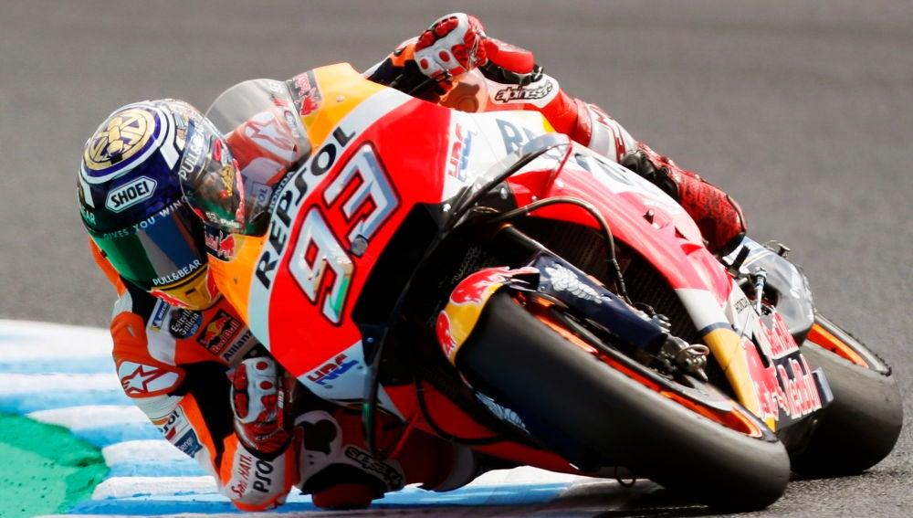 Marc Márquez durante los entrenamientos del GP de Japón