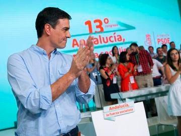 Pedro Sánchez en un acto en Andalucía