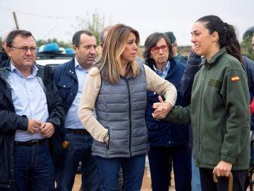 Susana Díaz desplazada a la comarca de Antequera, en Málaga