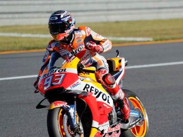 Marc Márquez celebra su victoria en el GP de Japón