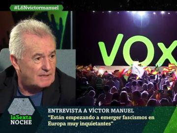 """Víctor Manuel, sobre el auge de VOX: """"Esas tendencias han existido siempre en España pero faltaba uno que tocara el silbato"""""""