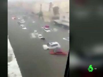 Imagen de las inundaciones en Catar