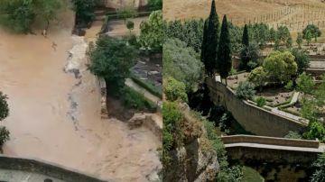 Antes y después de los baños árabes en Ronda