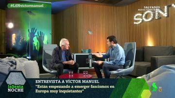 """Víctor Manuel: """"Se nos cae de la boca la palabra España  y a mí nunca se me ha caído"""""""