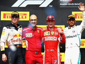 El podio del GP de EEUU