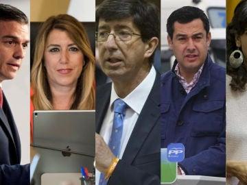 Imagen de los políticos que han mostrado sus condolencias por el bombero muerto en Campillo