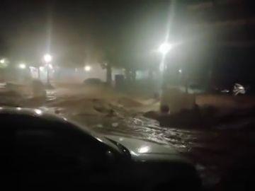 Imagen de las inundaciones en Campillos, Málaga