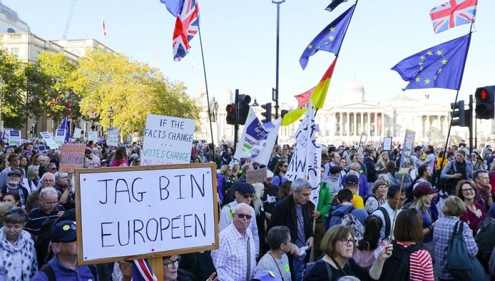 Manifestación contraria al Brexit en Londres