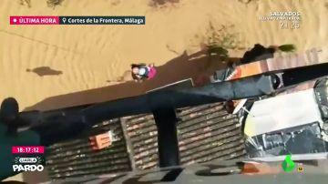 Espectacular rescate en helicóptero
