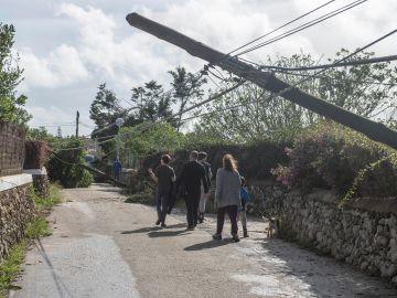Destrozos ocasionados por el tronado en Menorca