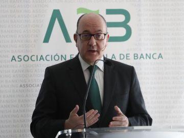El presidente de la Asociación Española de Banca (AEB), José María Roldán