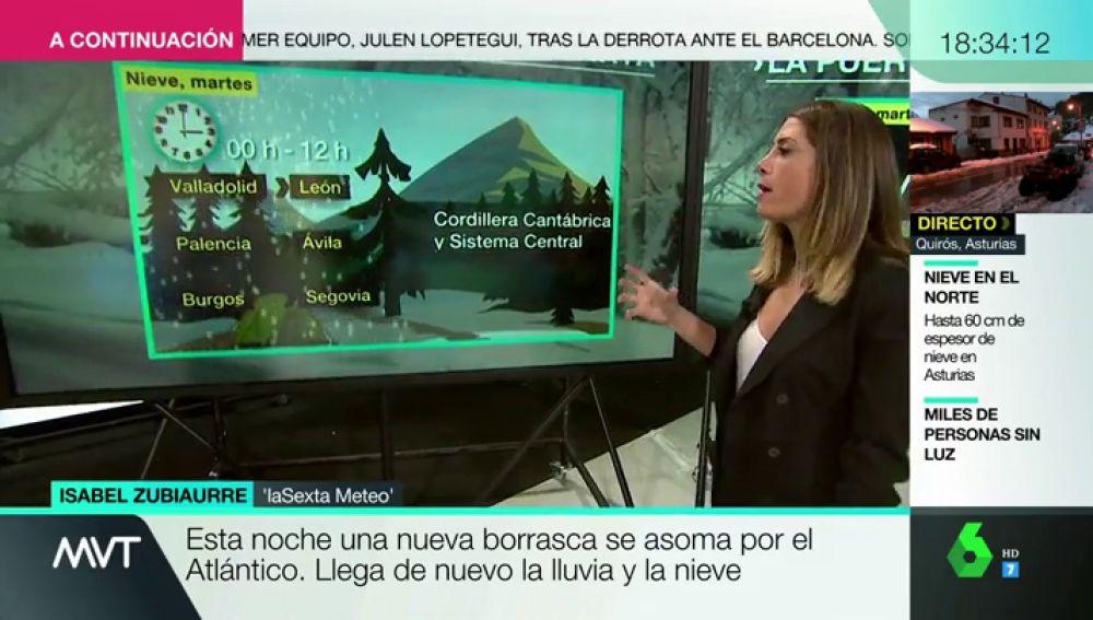 isabel mvtIsabel Zubiaurre explica en MVT las previsiones meteorológicas