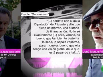 """Villarejo también avisó al marido de Cospedal y a López Madrid de casos de corrupción en Alicante y Murcia: """"Allí hay tomate"""""""