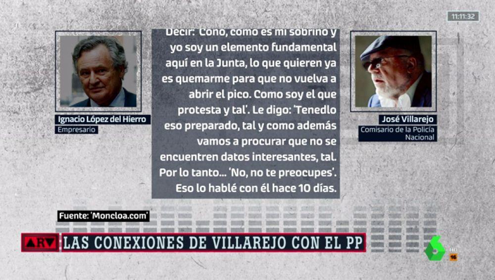 Nuevos audios revelan que el marido de Cospedal y Villarejo torpedearon casos contra el PP