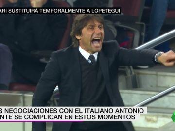 Se complican las negociaciones con Antonio Conte; Solari sustituirá temporalmente a Lopetegui