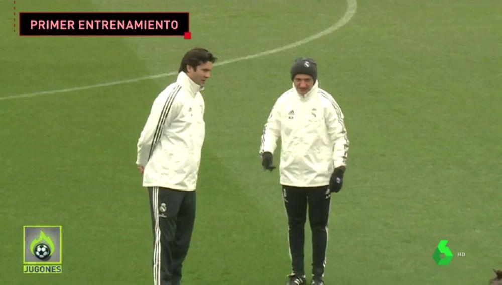 Solari dirige su primer entrenamiento como entrenador del Real Madrid tras ser nombrado sustituto de Lopetegui