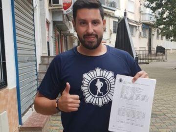 Rafael Prieto, el policía que perdió una pierna y fue jubilado
