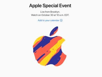 Invitación a la keynote de Apple