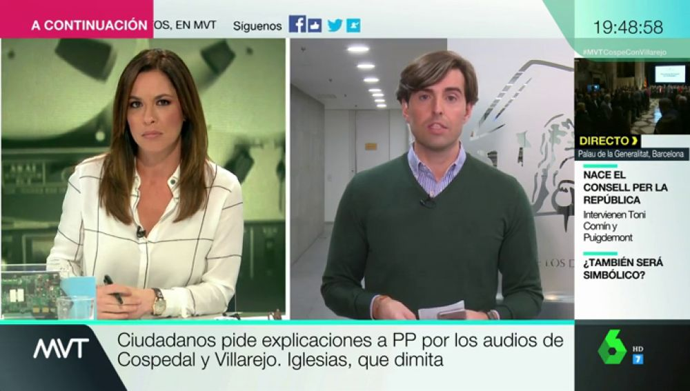 """Pablo Montesinos: """"Hay mucha preocupación en Génova ante las grabaciones de Cospedal que pudieran aparecer"""""""