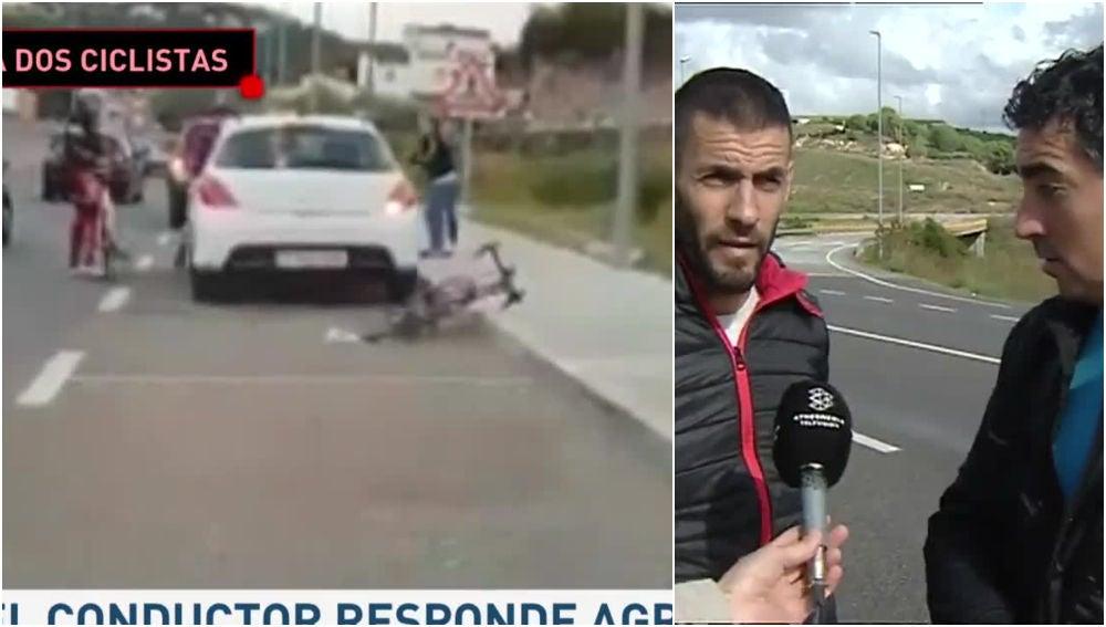 Agresión de un conductor a unos ciclistas
