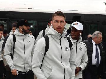 Ramos escribe un mensaje motivacional antes del partido de copa del rey contra el melilla