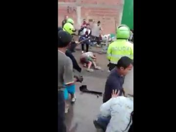 Linchan a una persona en Colombia
