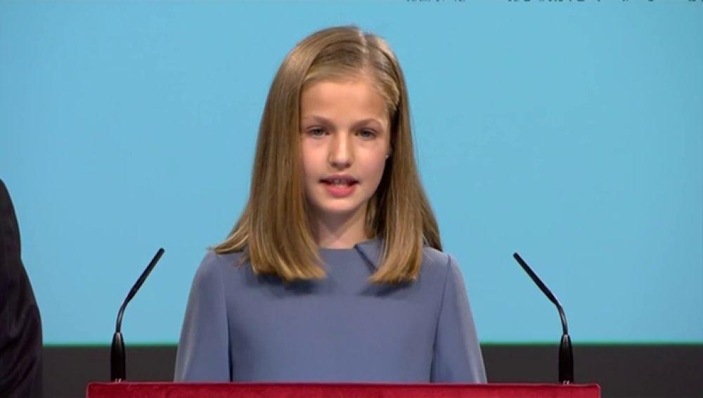El debut de la princesa Leonor hablando en público