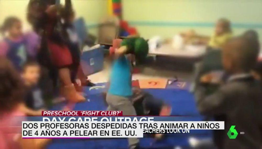Pelea de niños en una guardería