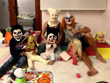 La familia de Cristiano Ronaldo celebra Halloween