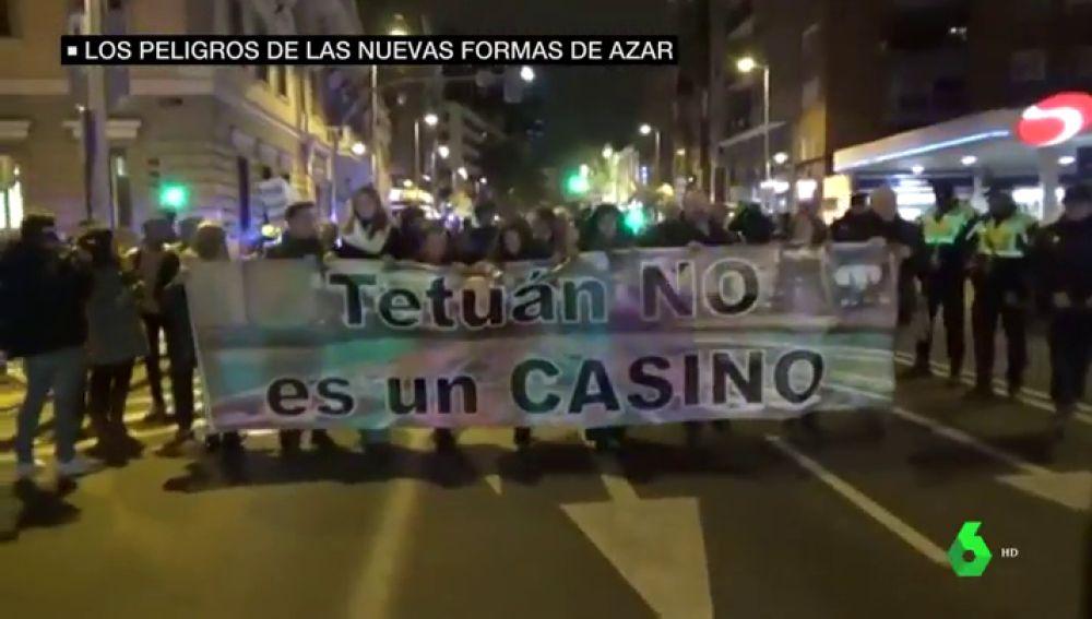 Protestas contra las casas de apuestas