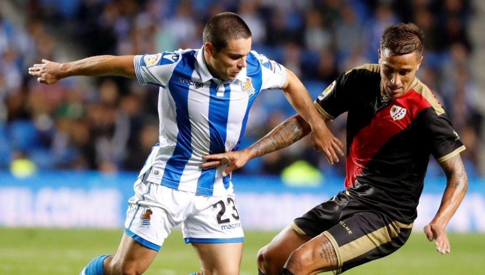 Sangalli, durante un partido contra el Rayo Vallecano
