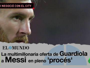 Messi estuvo a punto de irse al Manchester City por la situación política en Cataluña