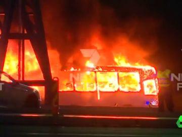 Imagen del incendio en Australia
