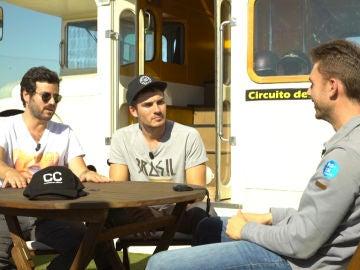 Andrés y Willy en el circuito del Jarama