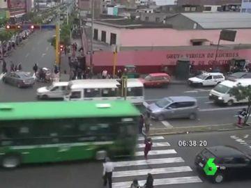 Imagen del atropello en Lima