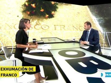 """José Luis Ábalos: """"No creo que a la iglesia le dé igual inhumar a Franco en la catedral de La Almudena"""""""