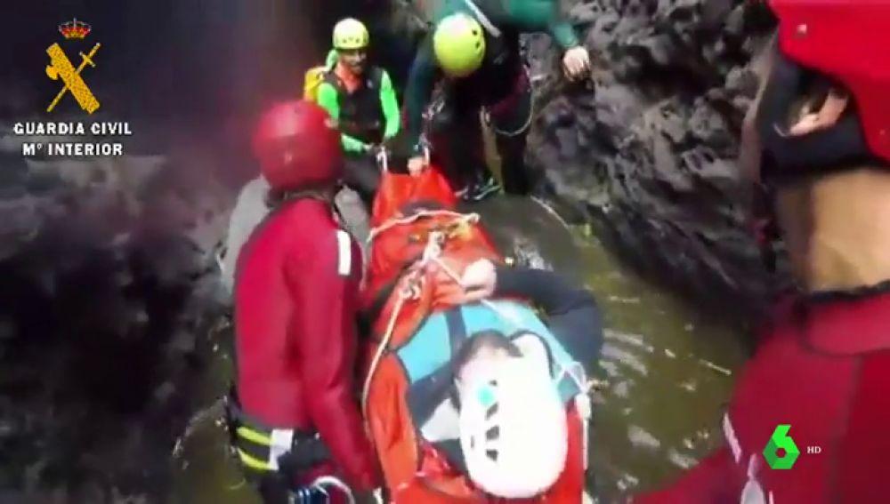 Imagen del rescatado en Tenerife
