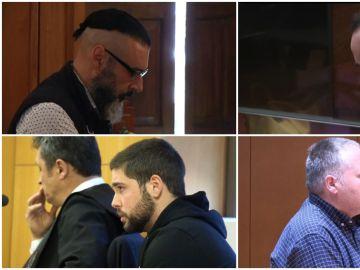 Imagen de los cuatro condenados a prisión permanente revisable