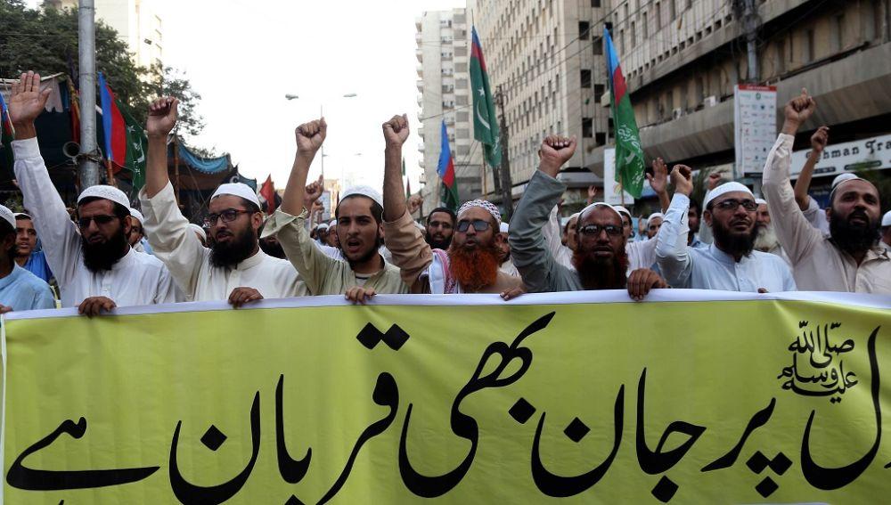 Protesta en Pakistán contra Asia Bibi