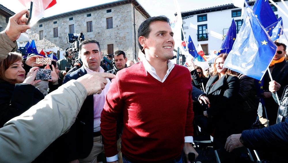 El presidente de Ciudadanos, Albert Rivera, a su llegada al acto de 'España Ciudadana'