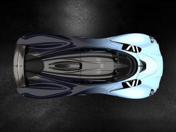 Aston Martin Valkyrie vista cenital