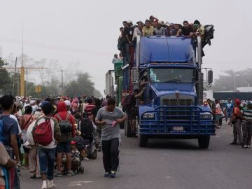 Caravana de migrantes en México