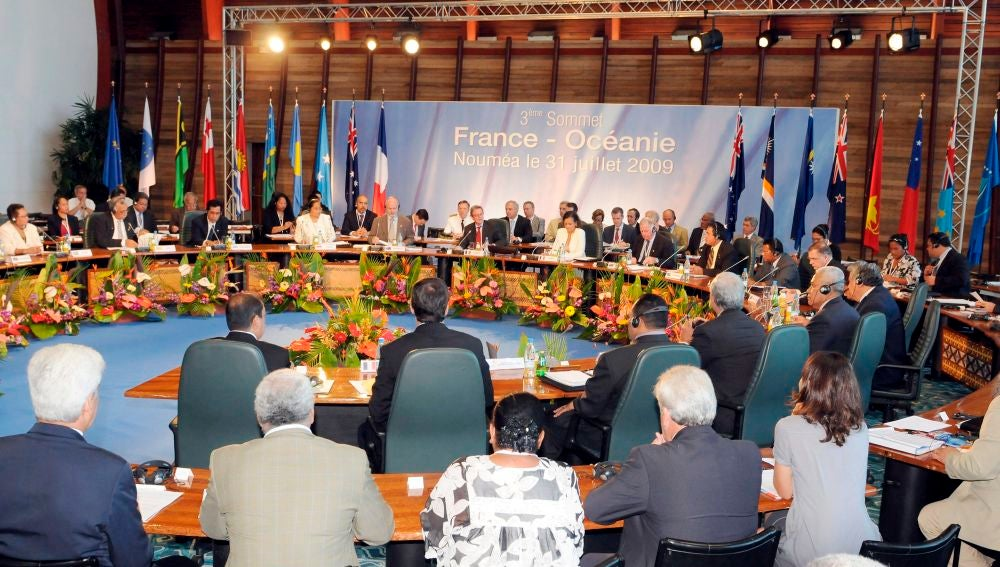 Vista general de una de las Cumbres Francia-Oceanía celebrada en Noumea, Nueva Caledonia
