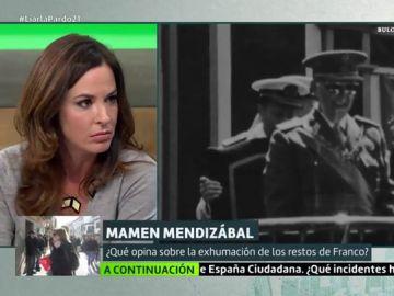 """Mamen Mendizábal, crítica con la inhumación de Franco en La Almudena: """"No pueden convertir Madrid en un lugar de exaltación del franquismo"""""""