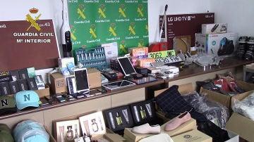 Artículos confiscados por la Guardia Civil
