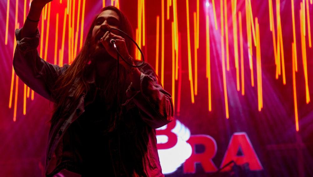 Carlos Sadness durante el concierto en el teatro Barceló