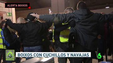 Burtal pelea entre ultras del Rayo y del Barça en Vallecas