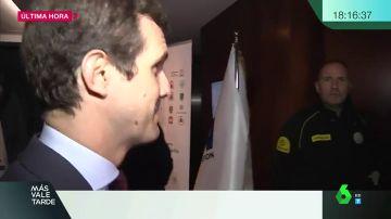 Pablo Casado a su entrada a una conferencia
