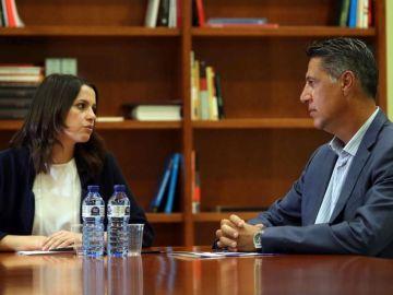 Inés Arrimadas y Xavier García Albiol