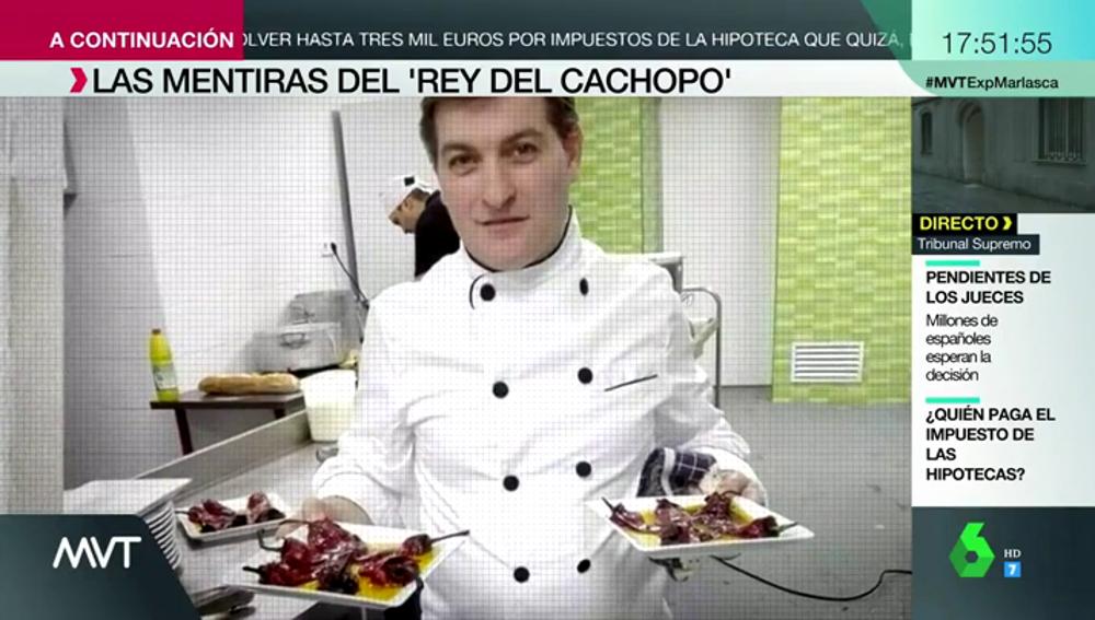 Se presentaba como un chef vasco, decía que no tenía padre y afirmaba ser periodista y político: las mentiras de 'el rey del cachopo'